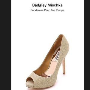Badgley Mischka Ponderosa Peep-Toe pumps, Sz 7